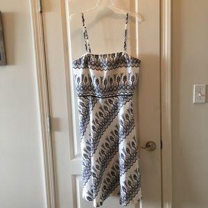 FREE! White nautical navy pattern linen dress